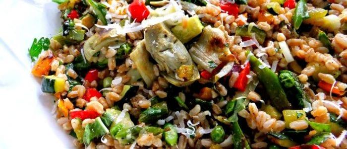 Farro,White Bean and Artichoke Salad