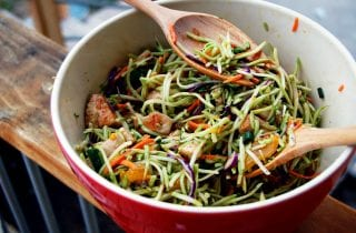 oriental coleslaw with nori