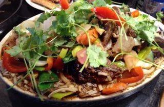 asian braised short ribs with stir fry