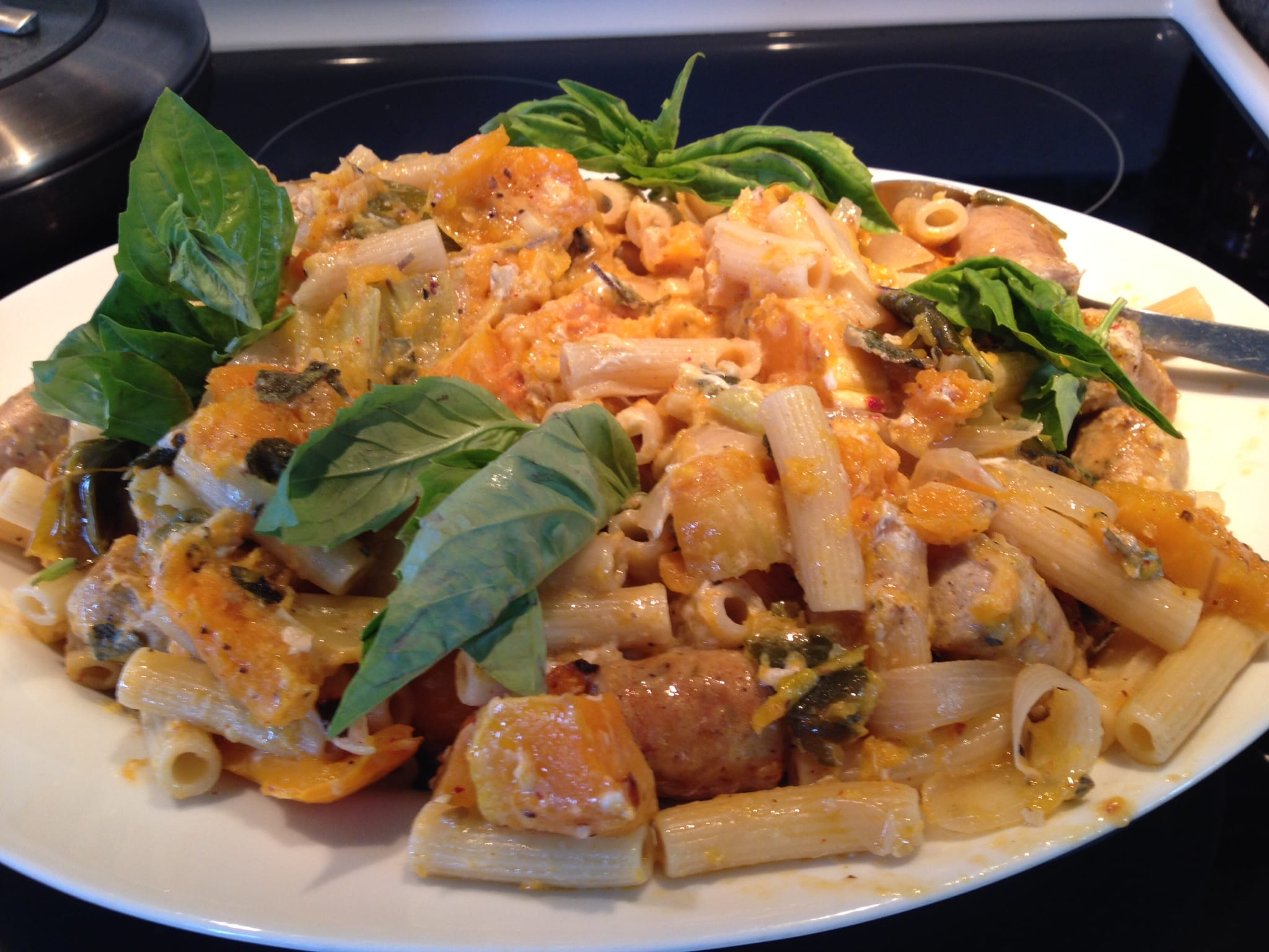 ... / Dinner Recipes / Rigatoni and Roasted Squash with Sausage and Sage