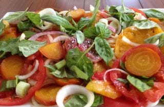 roasted beet and tomato salad