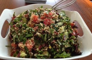 tabbouleh with raddichio, chard and basil