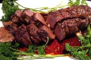 cumin scented venison tenderloin with rosemary