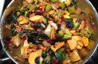 kadai curried vegetables