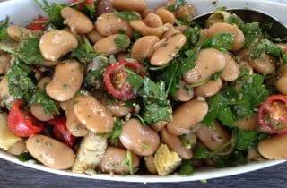 Mediterranean Corona Bean Salad