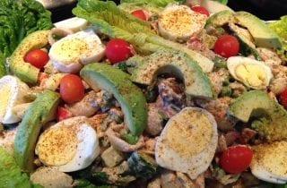 Salmon and crab macaroni salad2