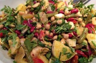 Four Bean Potato Artichoke Salad