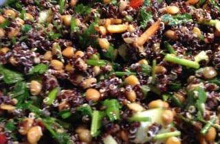 Quinoa Lentil Salad with Zaatar