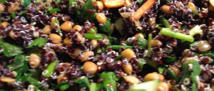 Quinoa Lentil Salad with Zaatar