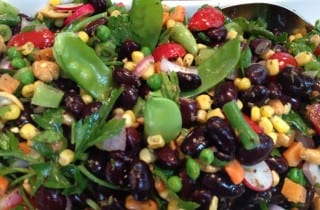 Black Bean Cashew and Pea Pod Salad1