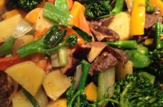 Venison Tenderloin Vegetable StirFry