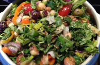 Artichoke Bean Salad with Zaatar and Mint