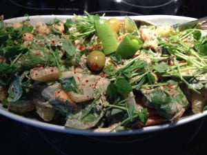 Curried Potato Salad with Spinach and Mint