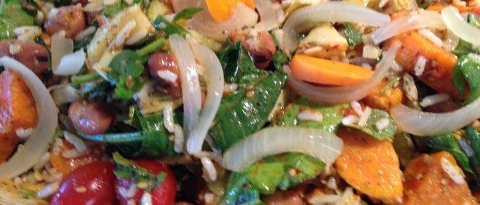 Zaatar Sweet Potato Rice Salad