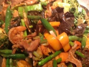 Tuna, Shrimp and Vegetable StirFry