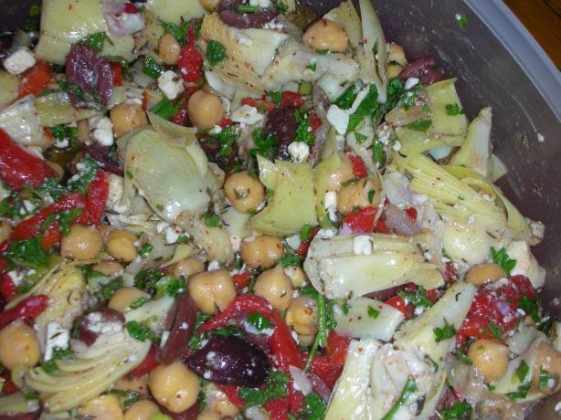 Artichoke Feta Salad