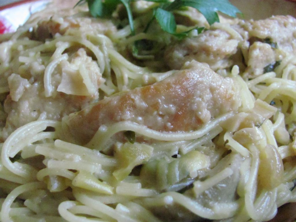 Chicken Cappellini  with Artichokes and Capers