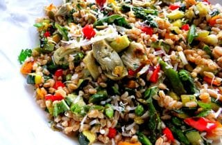 Farro,White Bean and Artichoke Salad