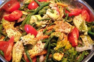 escarole and green bean stir fry