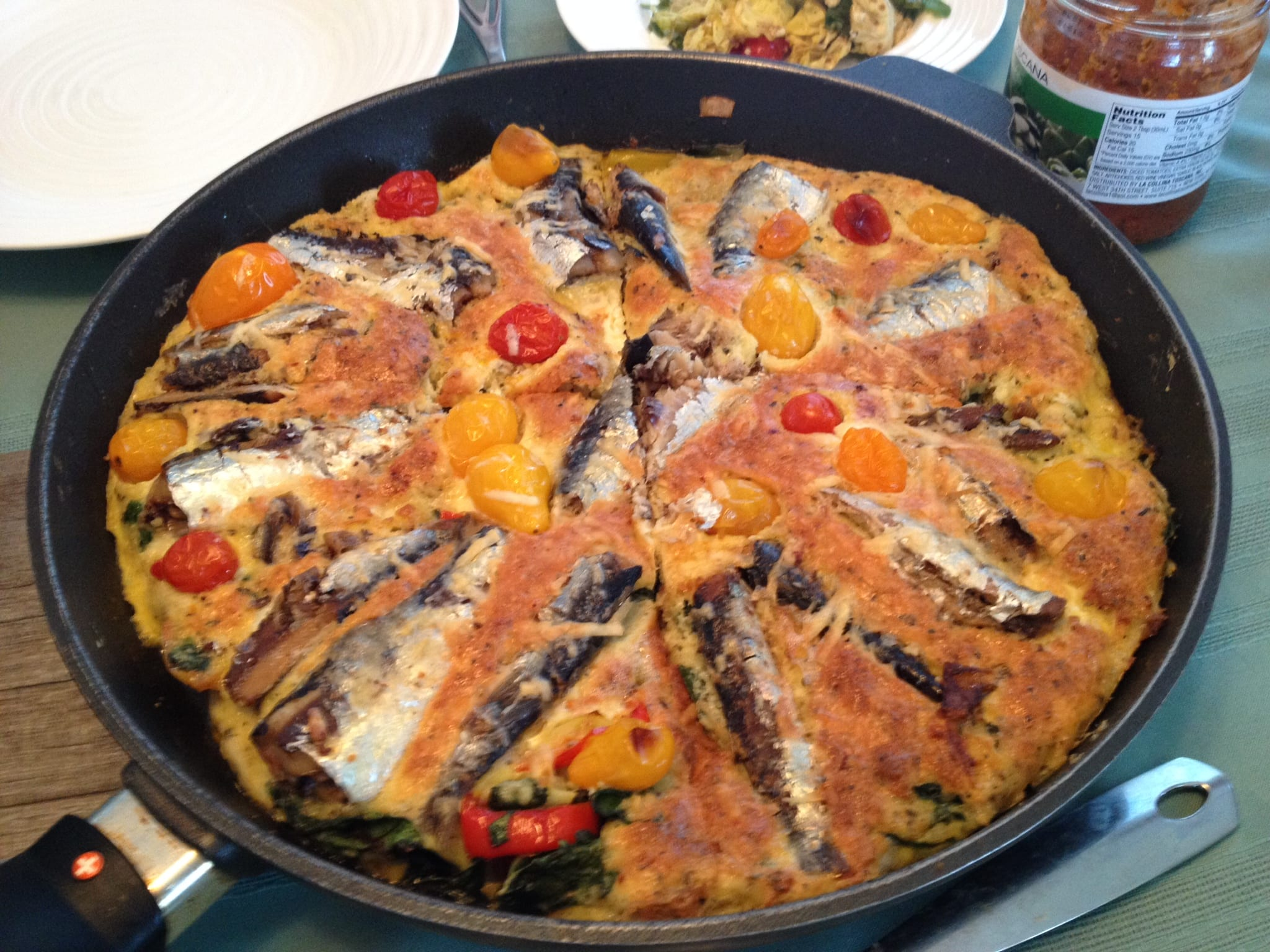 Frittata con Sarde and Swiss Chard