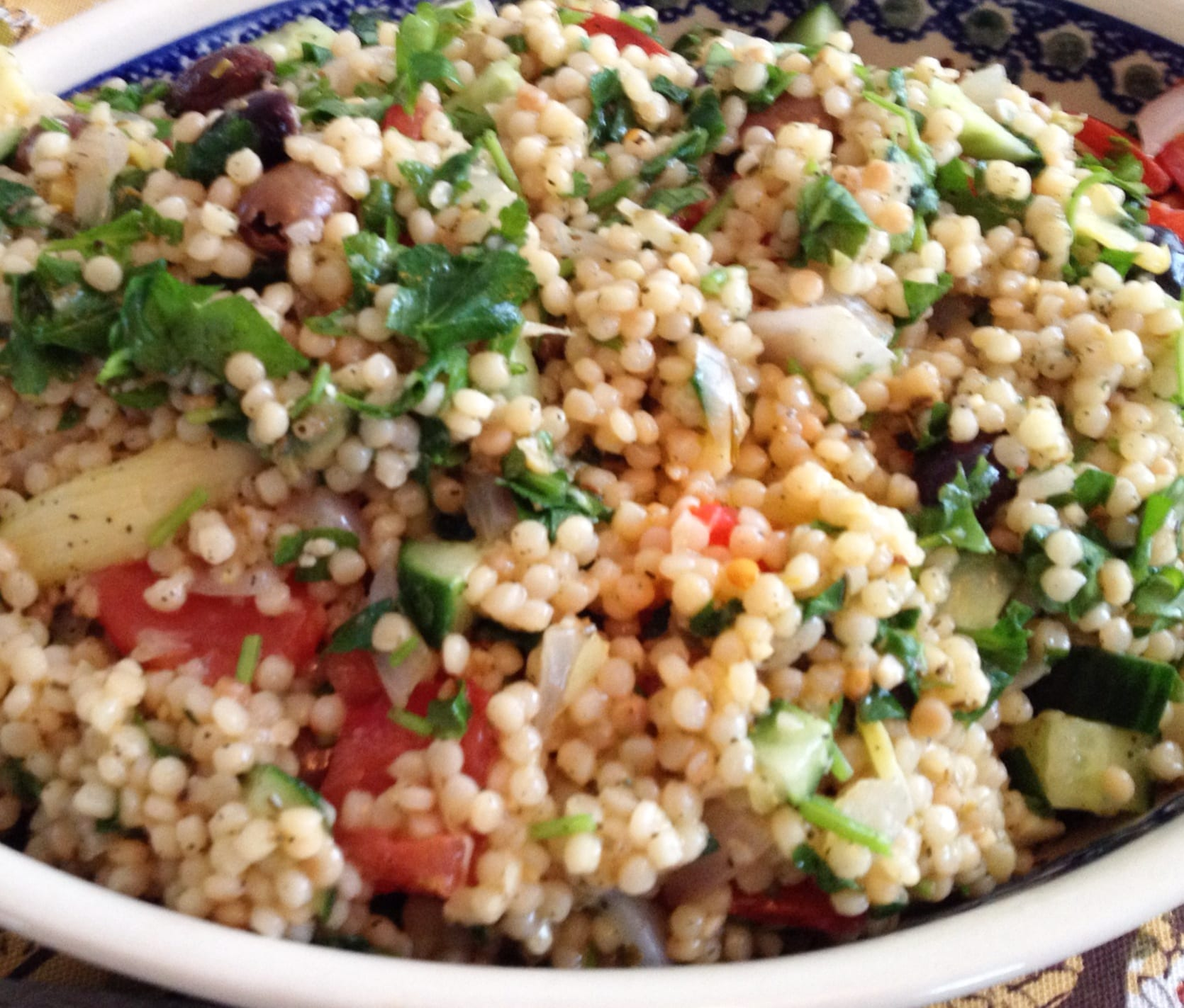 Minted Israeli Couscous