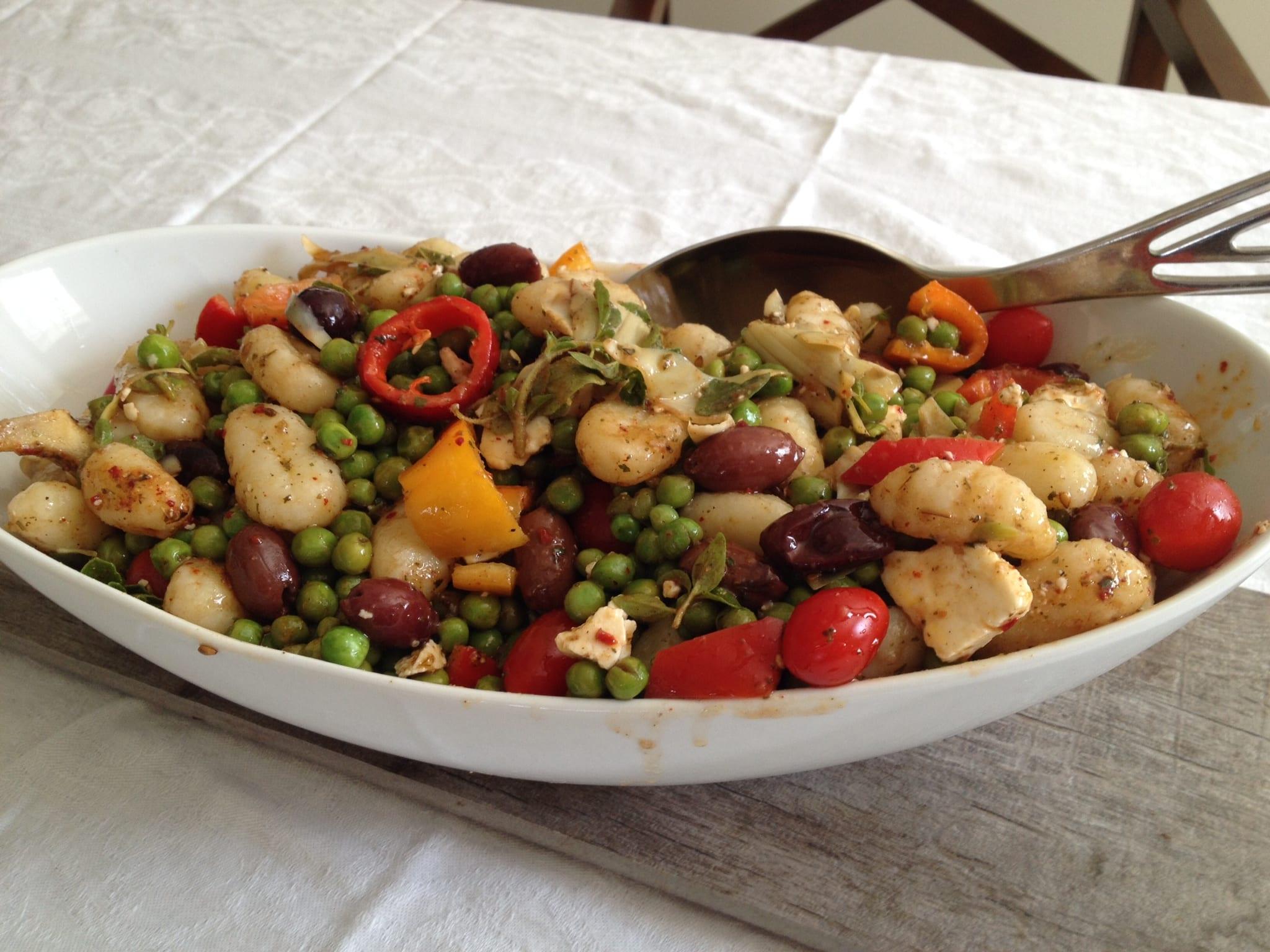 Gnocchi Artichoke and Pea Salad