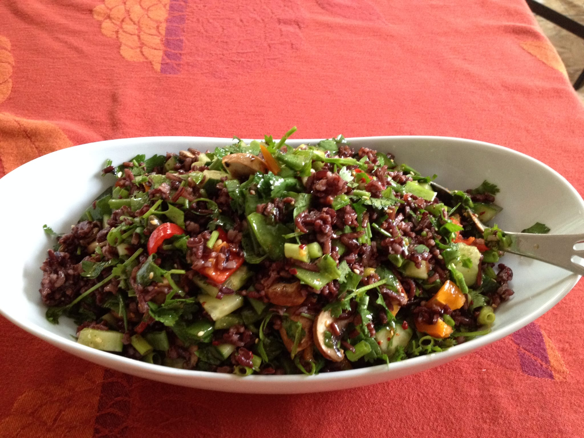 Japonica Wild Rice Salad with Mushrooms and Capers