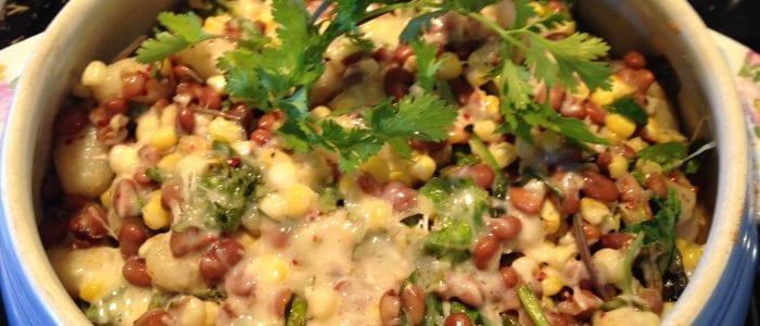 Gnocchi and bean casserole