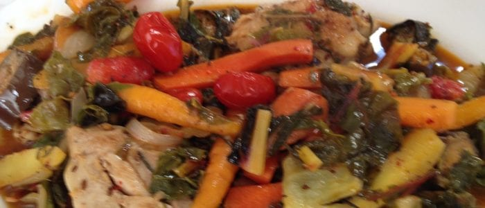 Sautéed Rosemary Chicken Thighs with Chard