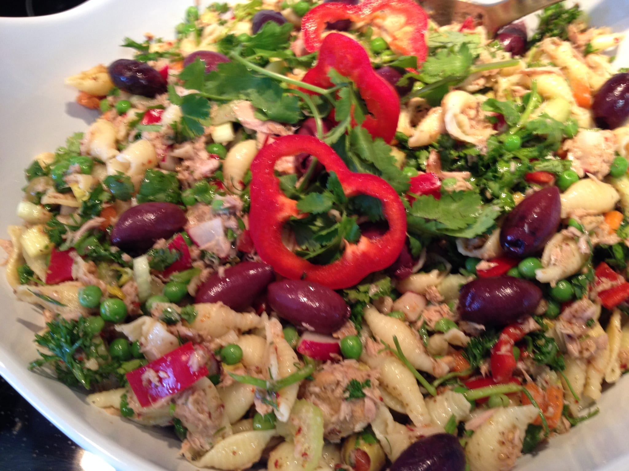 Tuna Pasta Salad with Fatoush Dressing