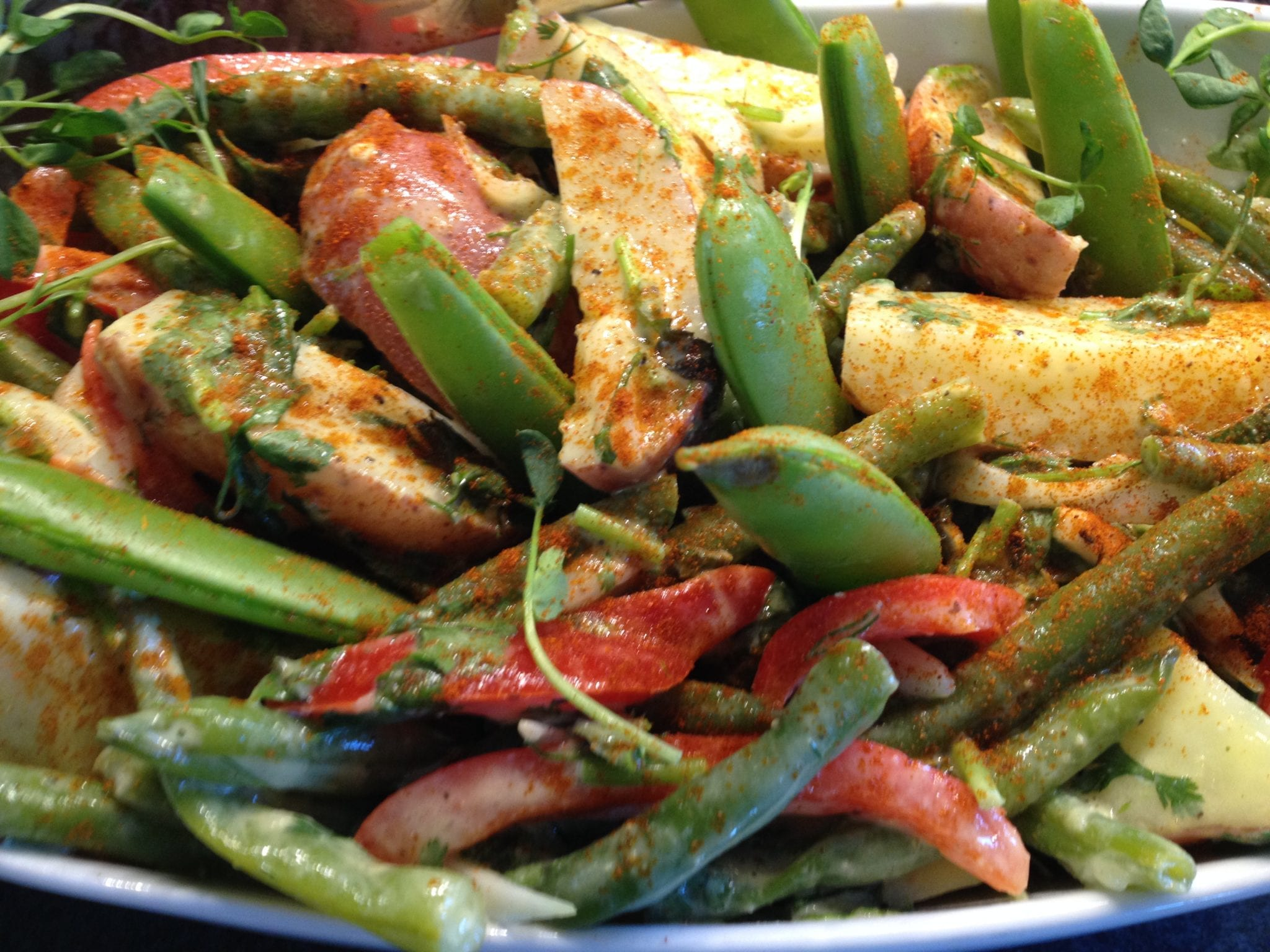Dijon Potato Salad with Green Beans & Arugula