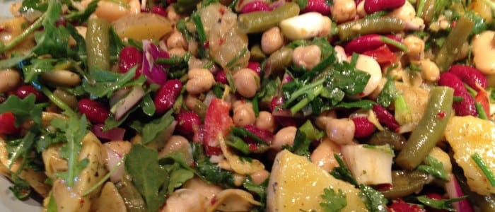 Four Bean Potato Artichoke Salad One of two Delicious & Healthy summer Potato Salads!