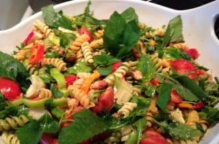 Minted Pasta Salad with Fava and Peas