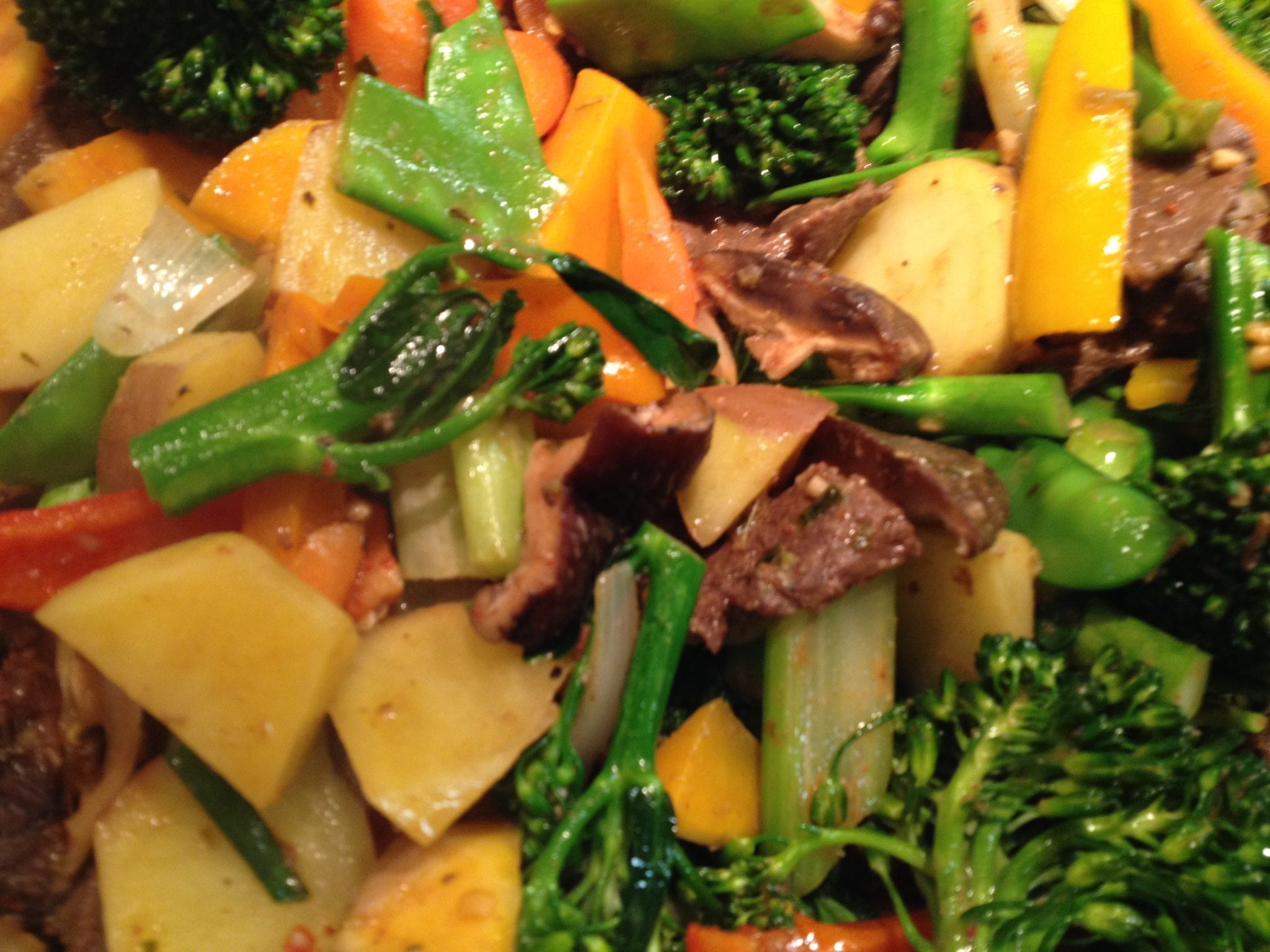 Venison Tenderloin Vegetable StirFry