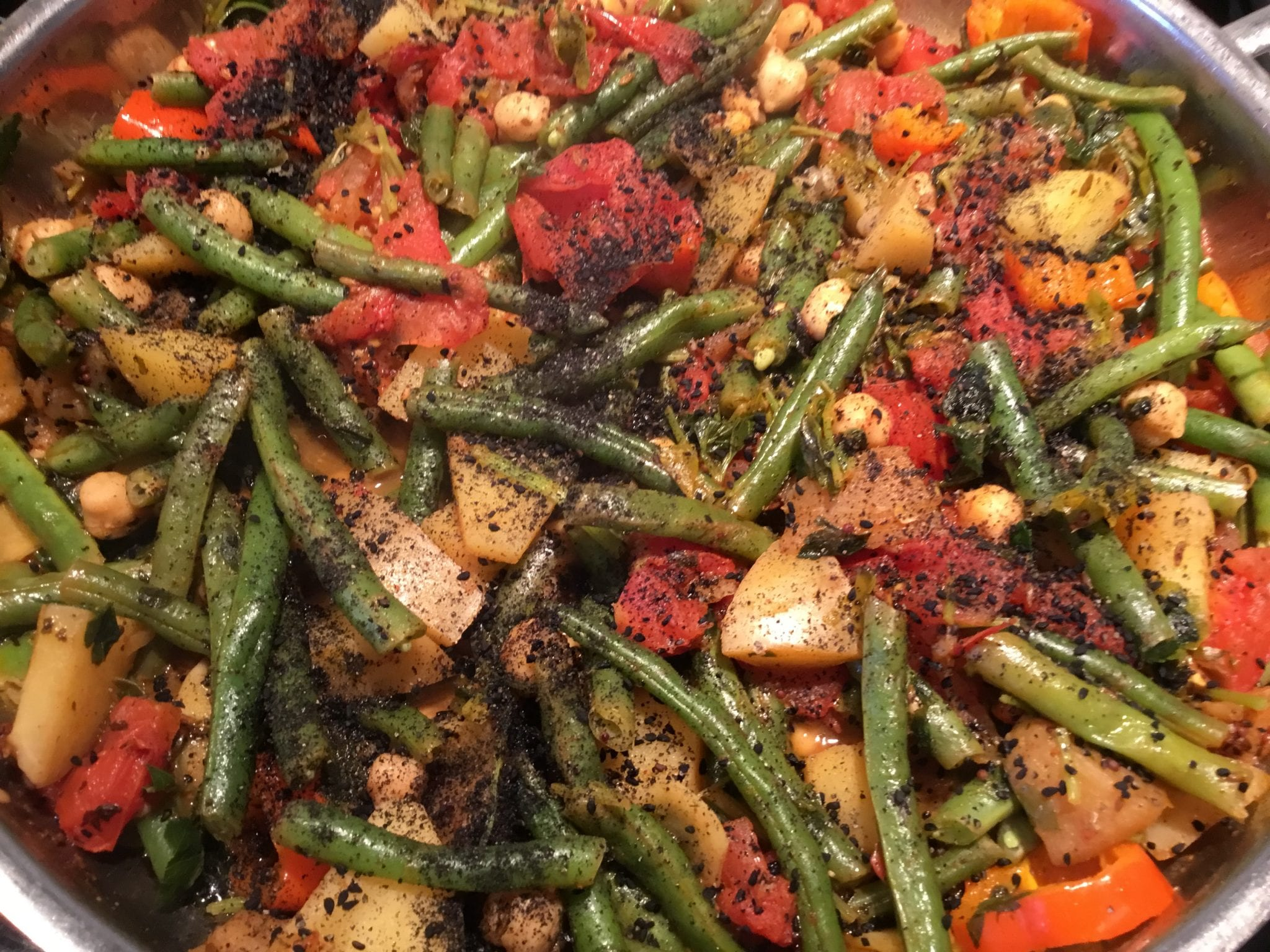 Stovetop Roasted Tandoori Vegetables