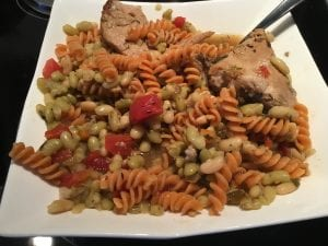 Red Lentil Rotelli with Flageolet Beans