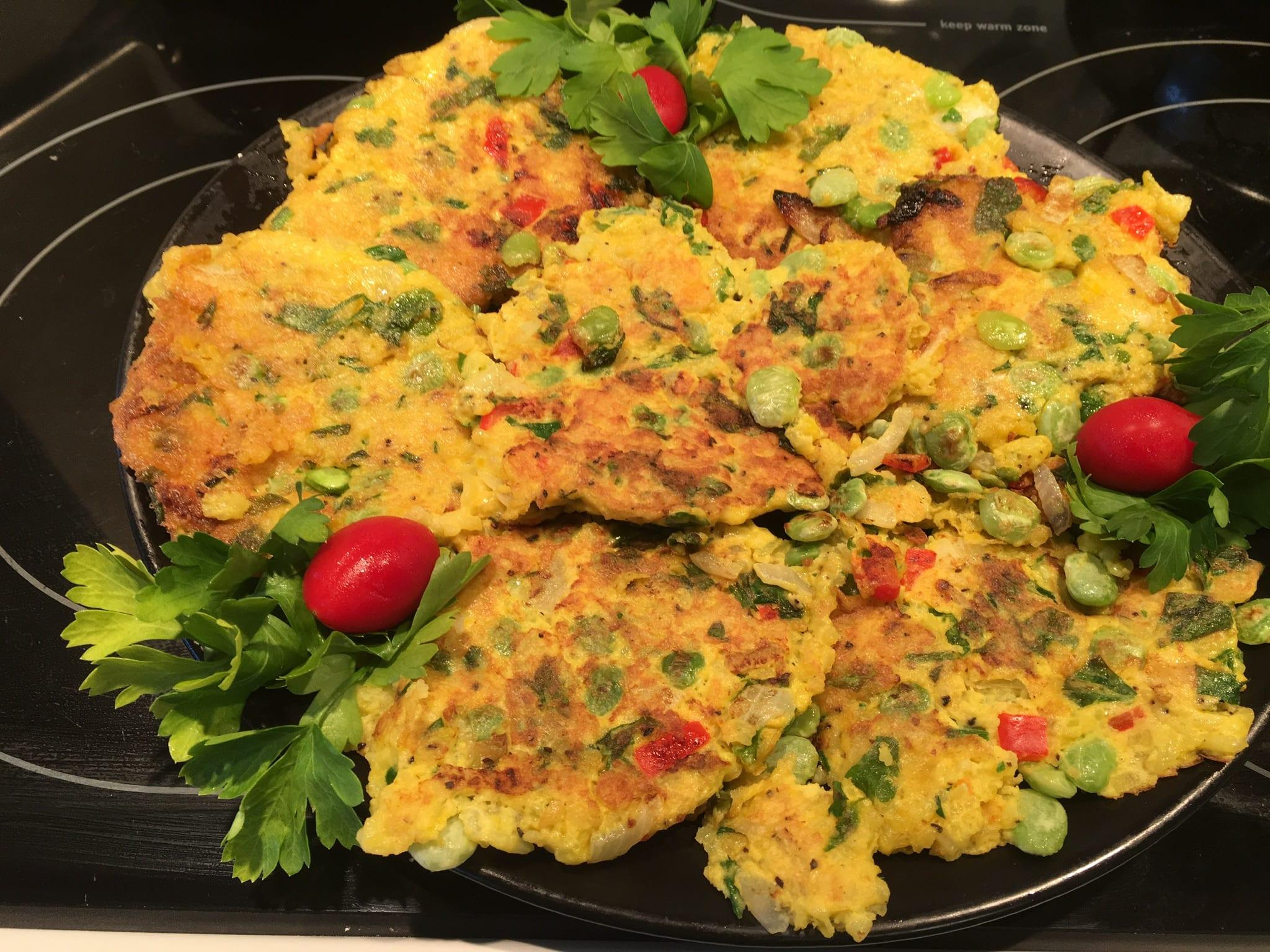 Saffron Rice Latkes