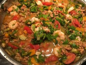 Golden Fregola Shrimp and Tomato