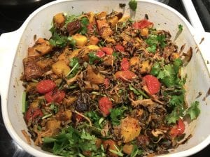 Wild Rice with Roasted Squash and Tomato
