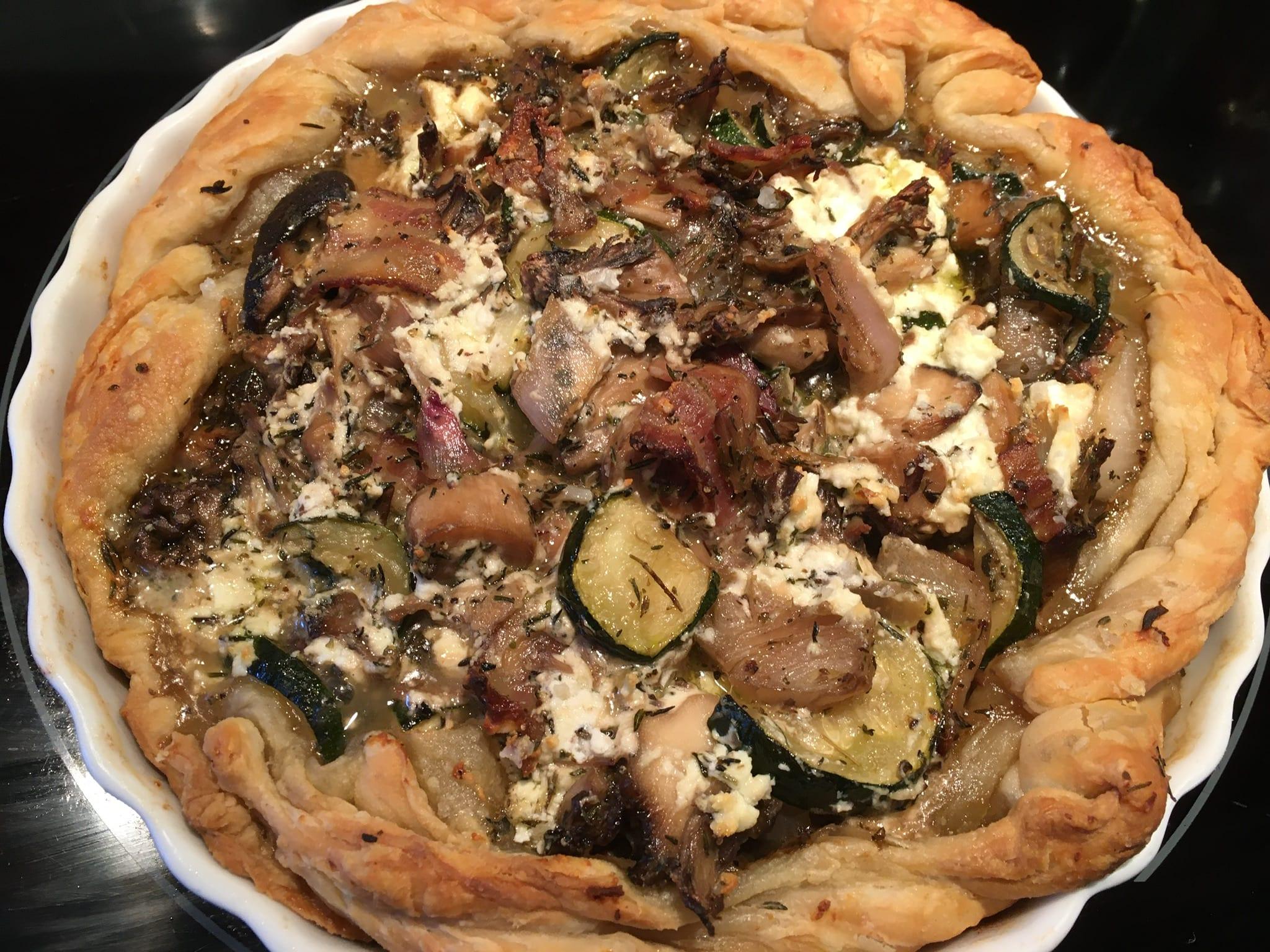 Mushroom Zucchini Tart