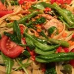 Fettuccine with Tuna and Lemony Spring Greens