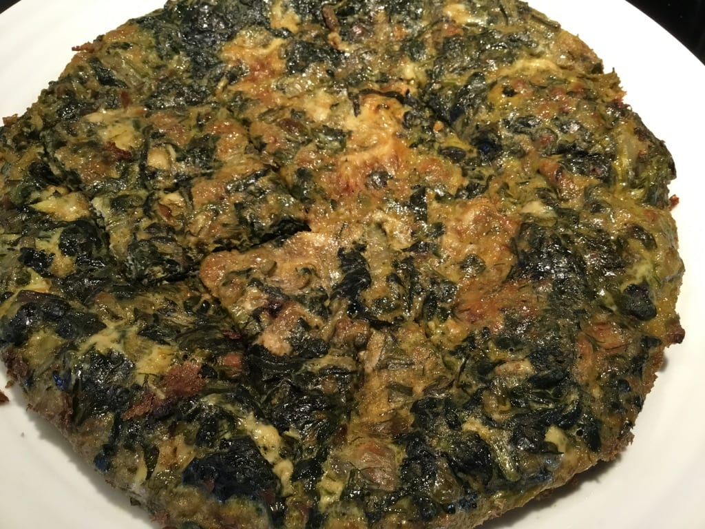 Kuku Sabzi with Swiss Chard and Herbs