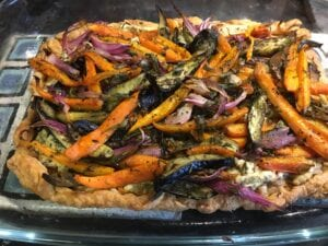 Savory Roasted Carrot and Eggplant Tart