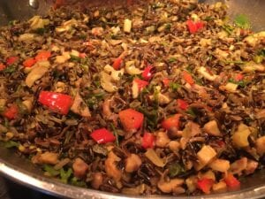 Wild Rice with Chestnuts and Forest Mushrooms