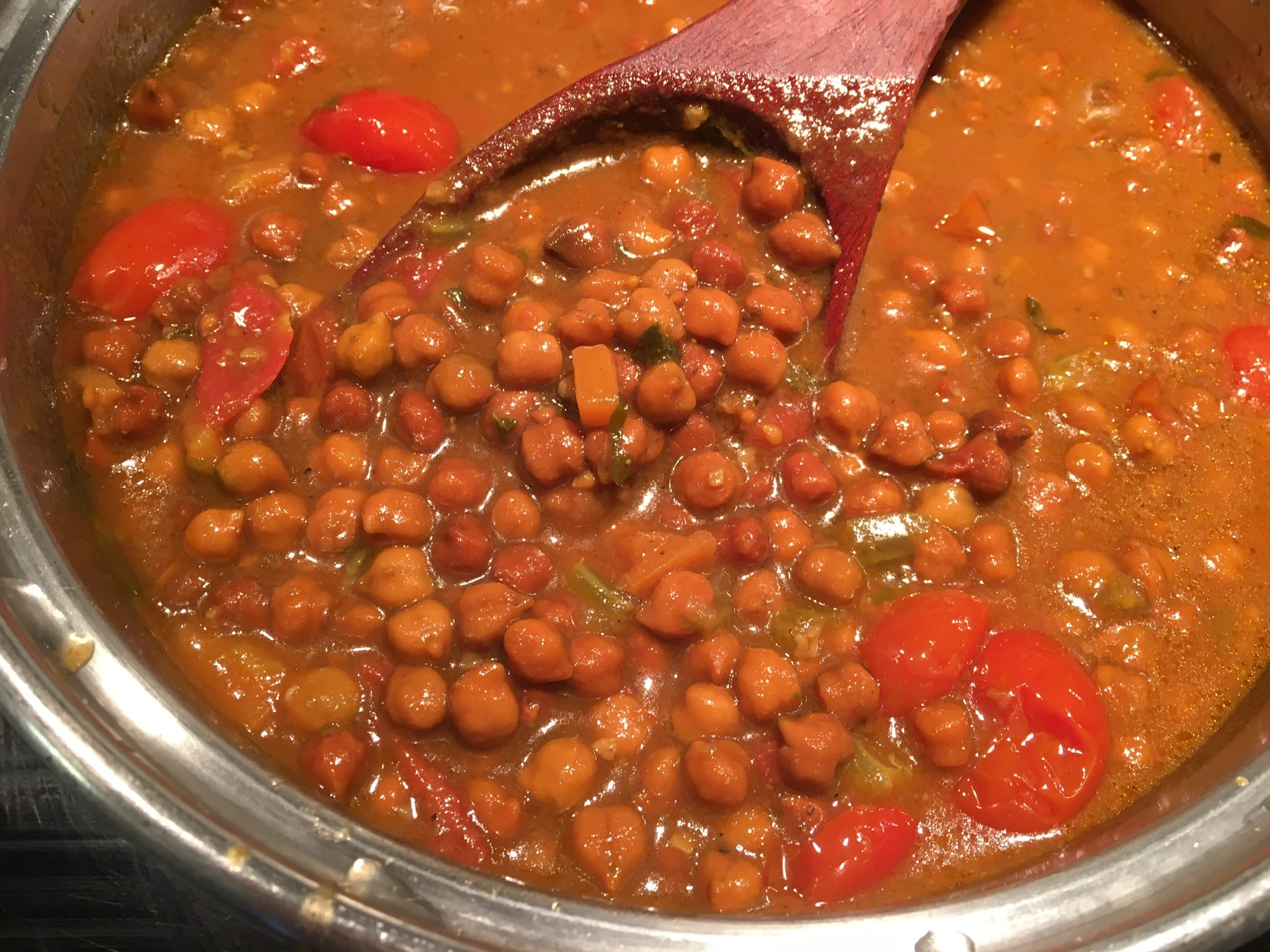 Desi Chana Beans in Vindaloo Broth