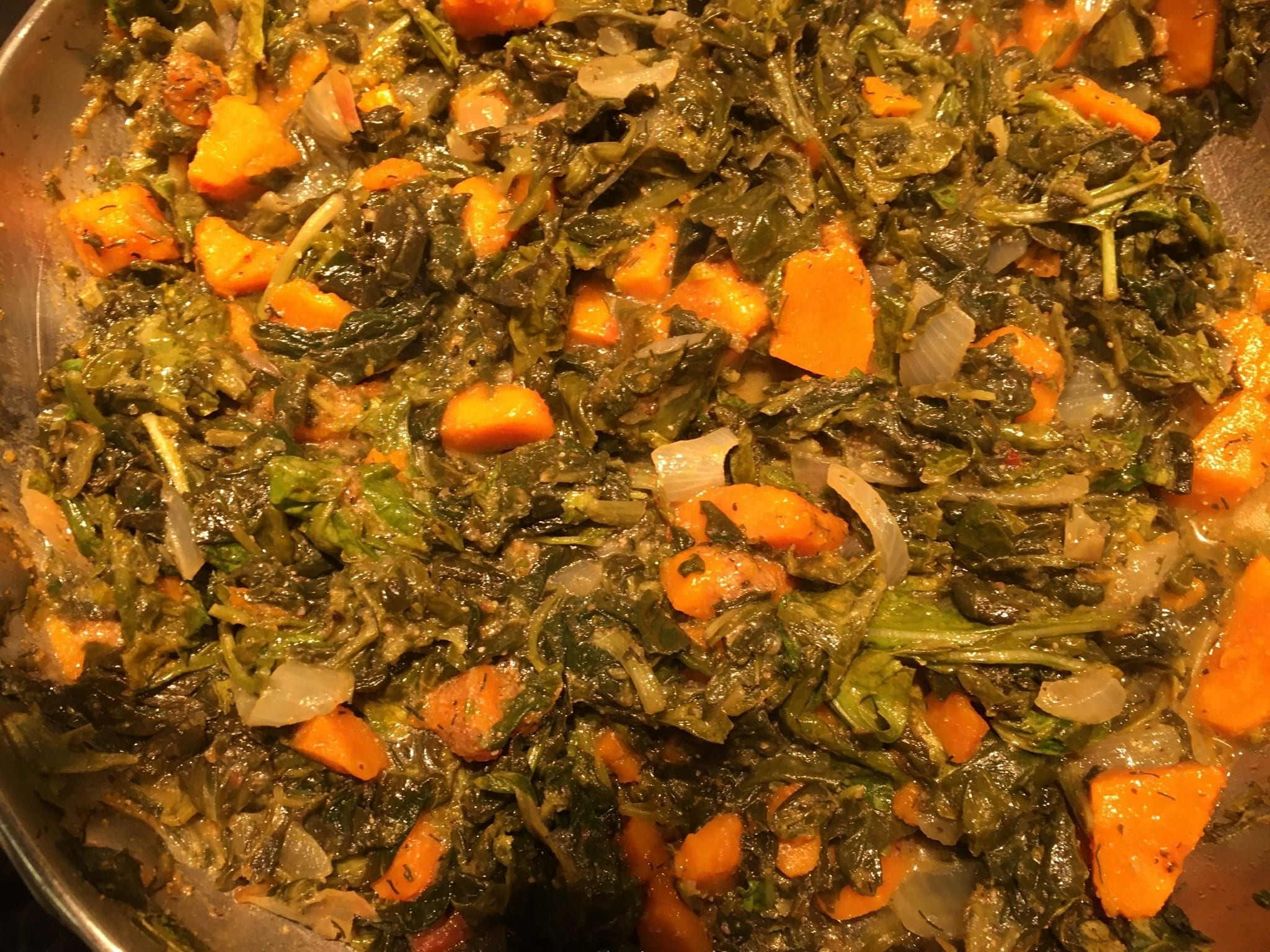 Kuri Squash and Spinach Sabzi