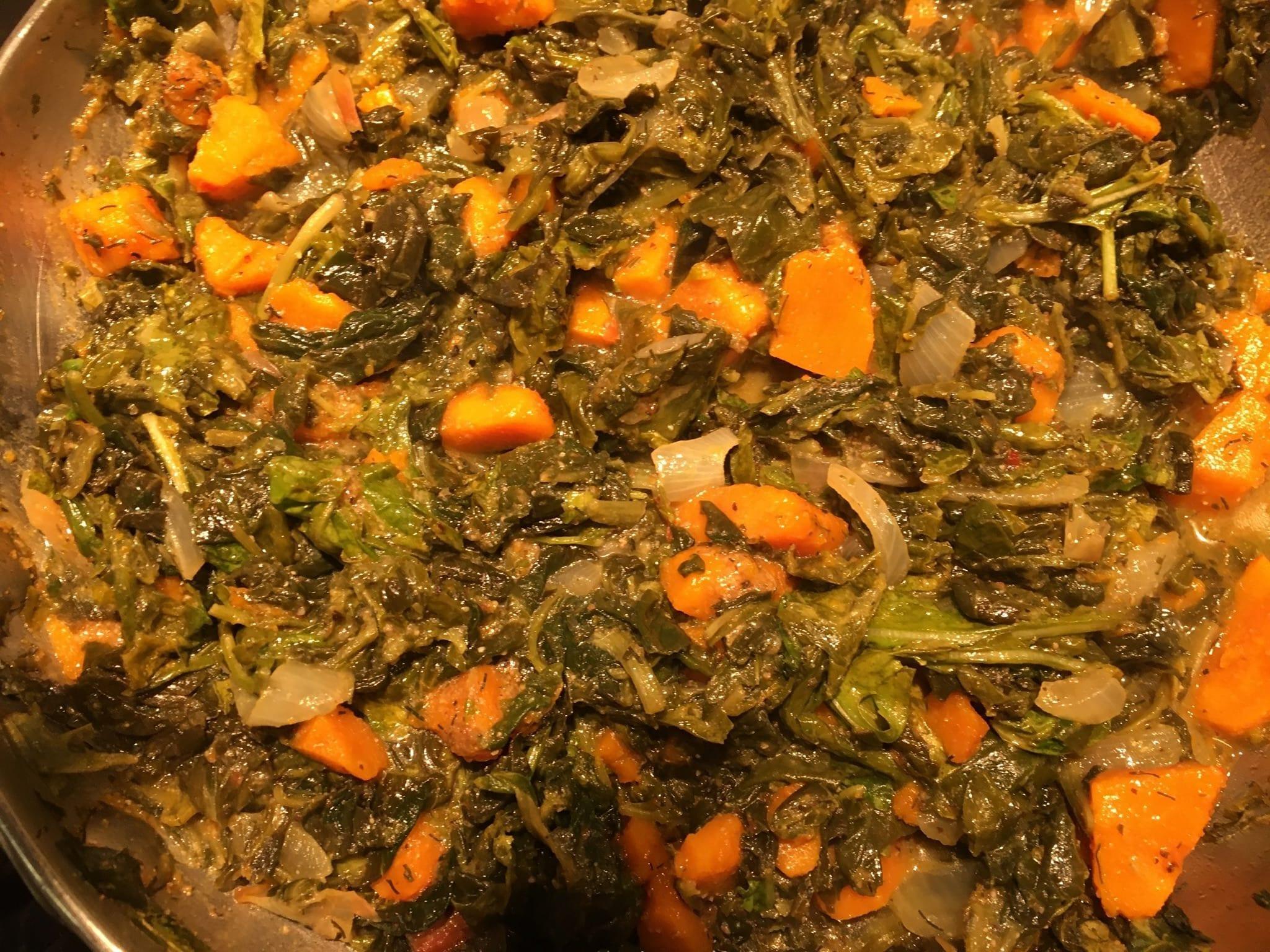 Kuri Squash and Spinach Sabzi