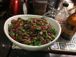 Christmas Lima Bean Salad